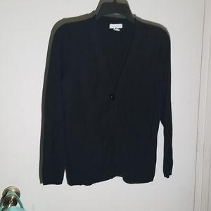 Charter Club Black One Button Cardigan